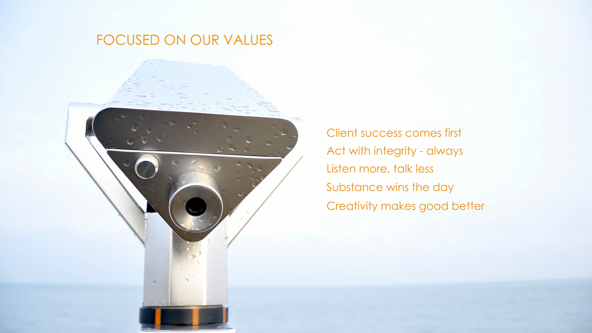 HWB - Home - Focused on our Values